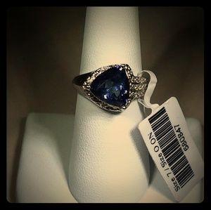 Purple Blue Mystic Topaz Cocktail Ring